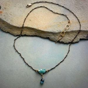 🆕❤️ SUNDANCE topaz & apatite sterling necklace
